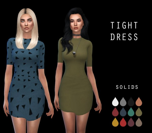 Leo 4 Sims: Tight dress RC2 recolored