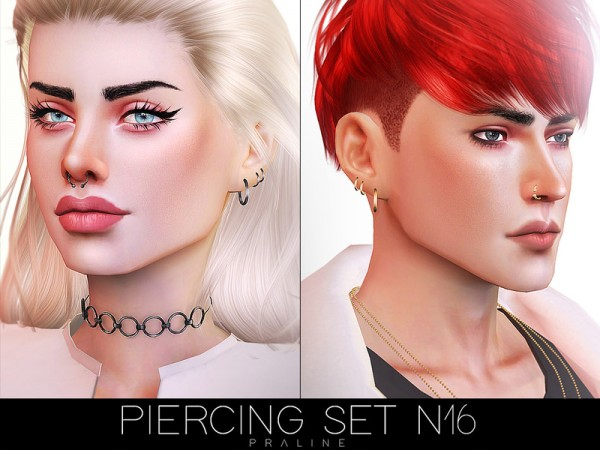 The Sims Resource: Piercing Set N16 by Pralinesims