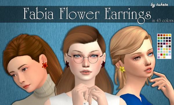 Tukete: Fabia Flower Earrings