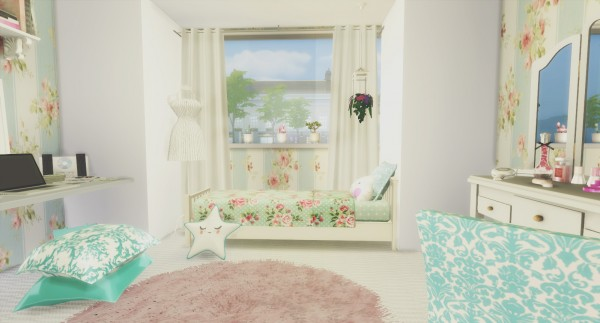 Liily Sims Desing: Romantic Girl´s Bedroom