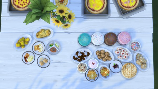 Mod The Sims: Food Texture Overhaul by yakfarm