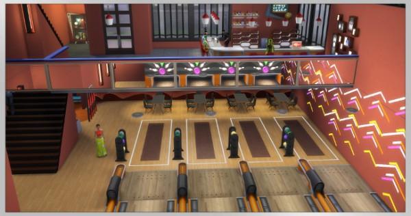 Blackys Sims 4 Zoo: Bowling Bar Strike by Kosmopolit