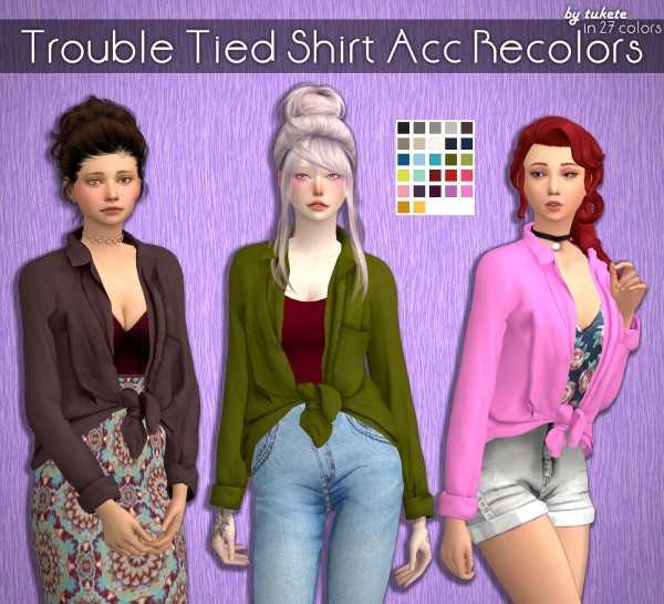 Tukete: Trouble Tied Shirt Acc Recolors