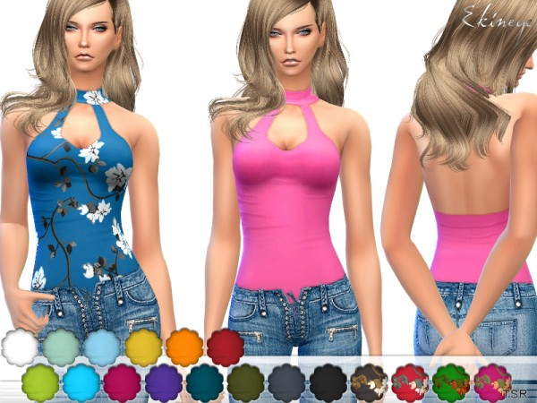The Sims Resource: Keyhole Halter Top by ekinege