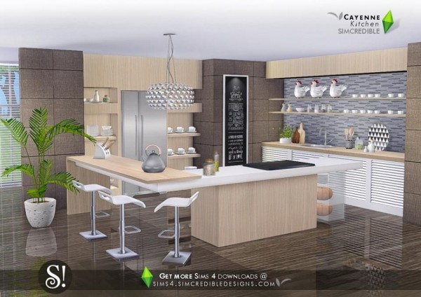 simcredible designs cayenne kitchen sims 4 downloads. Black Bedroom Furniture Sets. Home Design Ideas