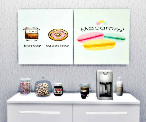Liily Sims Desing: Art Wall Sweet Cute Kitchen