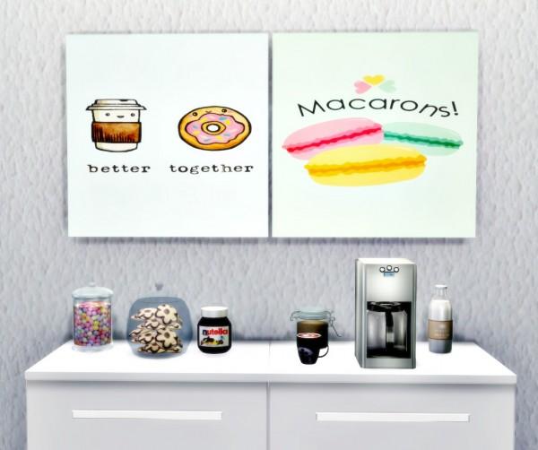 Cute Kitchen Wall Decor: Liily Sims Desing: Art Wall Sweet Cute Kitchen • Sims 4