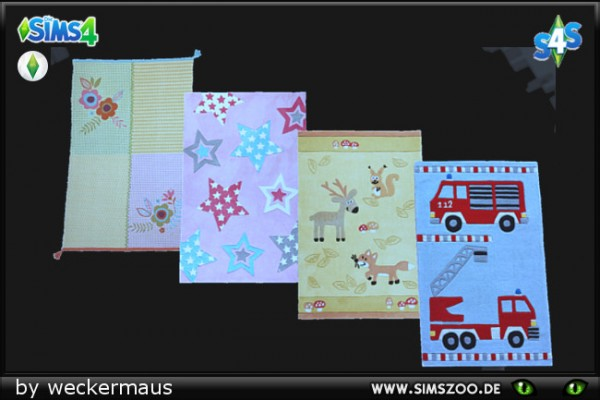 Blackys Sims 4 Zoo: Childrens carpets by weckermaus