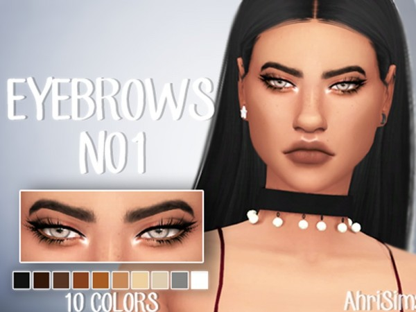 The Sims Resource: Eyebrows N01 by AhriSims