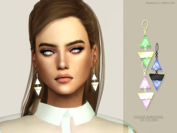 The Sims Resource: Madge Earrings by magnolia c