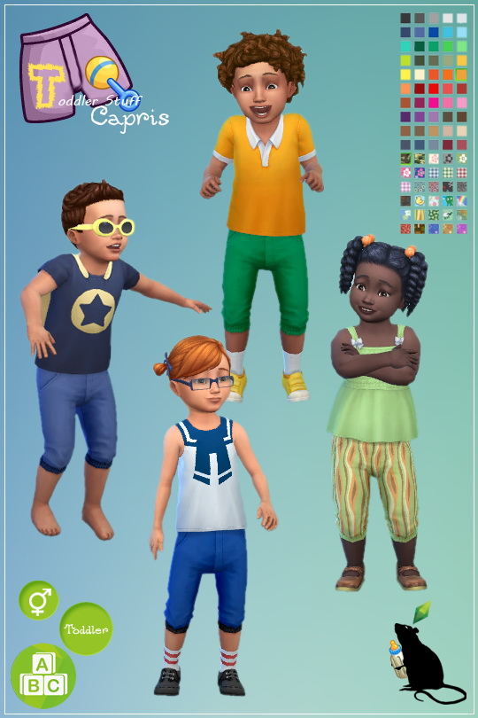 Simsworkshop: Toddler Stuff Capris recolored by Standardheld