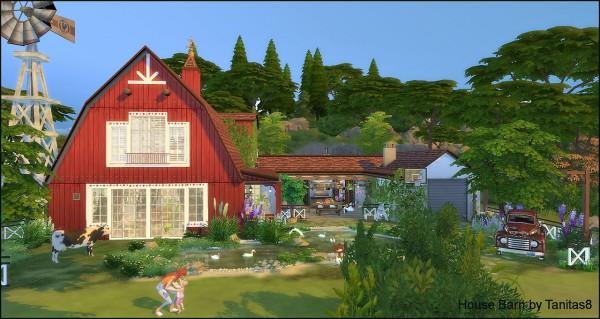 Tanitas Sims House Barn Sims 4 Downloads