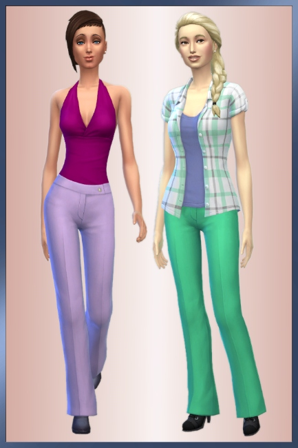 Blackys Sims 4 Zoo: Simple trousers by cappu