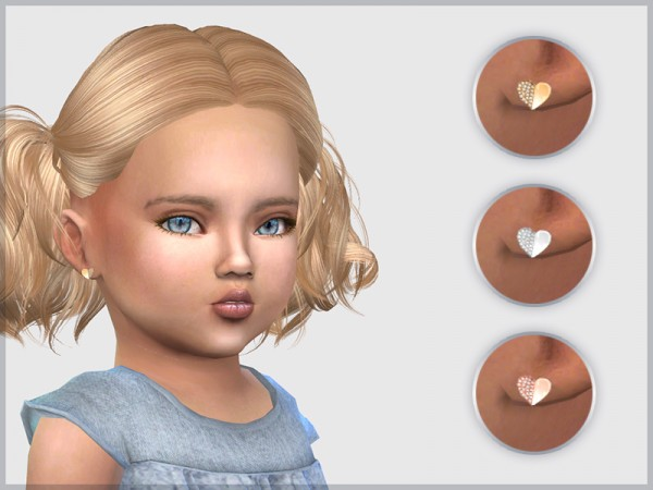 Giulietta Sims: Heart Studs For Toddlers