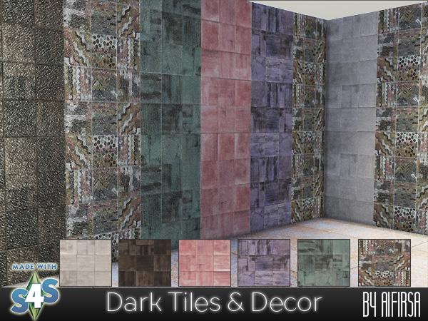 Aifirsa Sims: Dark Tiles and Decor
