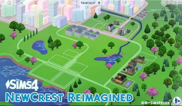 Mod The Sims: Newcrest Map Reimagined (Override) by MySimsFever