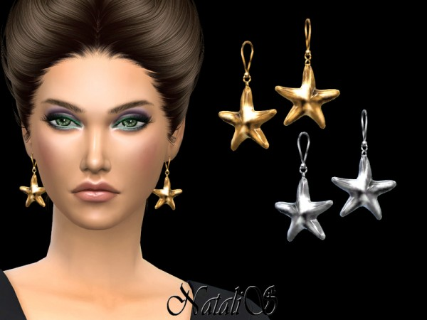 The Sims Resource: Sea Star Drop Earrings by NataliS