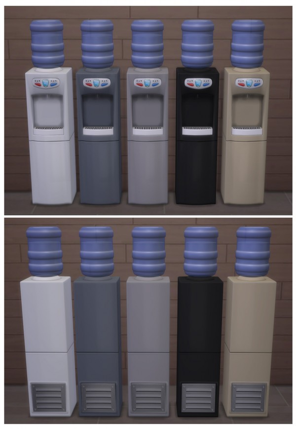 Mod The Sims Functional Aqua Pura Water Cooler By