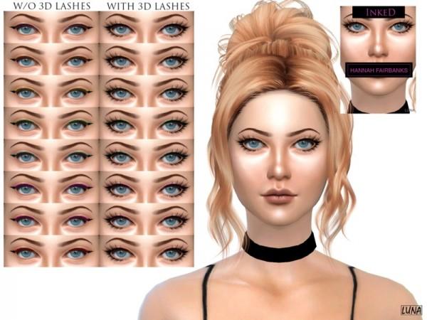 The Sims Resource: Hannah Fairbanks Inked Eyeliner by lunatri.ix