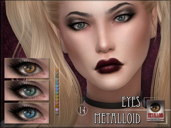 The Sims Resource: Metalloid Eyes by RemusSirion