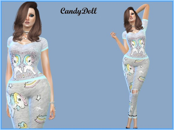 The Sims Resource: Unicorn Set by CandyDolluk