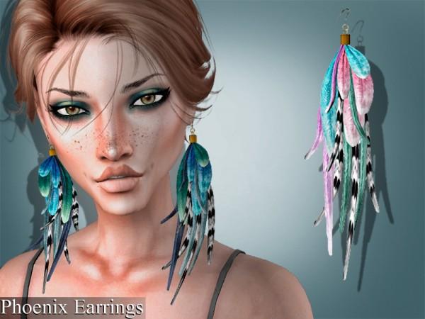 The Sims Resource: Phoenix Earrings by Genius666
