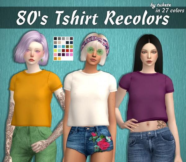 Tukete: 80's T shirt Recolors