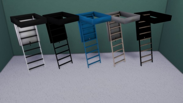Enure Sims Attic Ladder Sims 4 Downloads