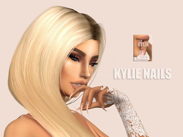 The Sims Resource: Kylie nails by Kimbabylee