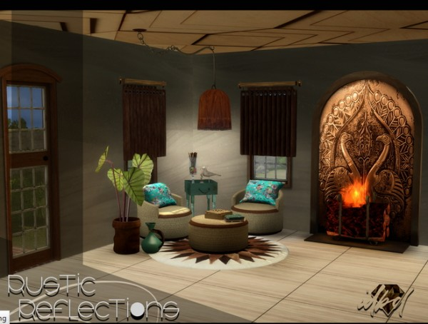 Sims 4 Designs: Rustic Reflections Set