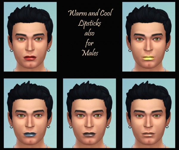Mod The Sims: Matte Lipsticks in Cool and Warm Shades by Simmiller