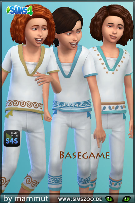 Blackys Sims 4 Zoo: Outfit Early Civ 2 by mammut