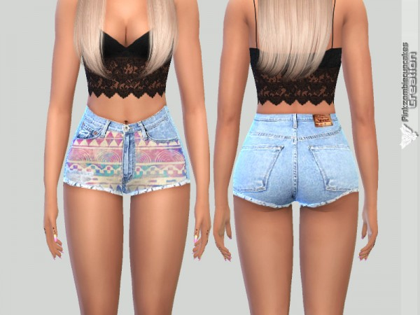 The Sims Resource: Summer Denim Shorts by Pinkzombiecupcakes