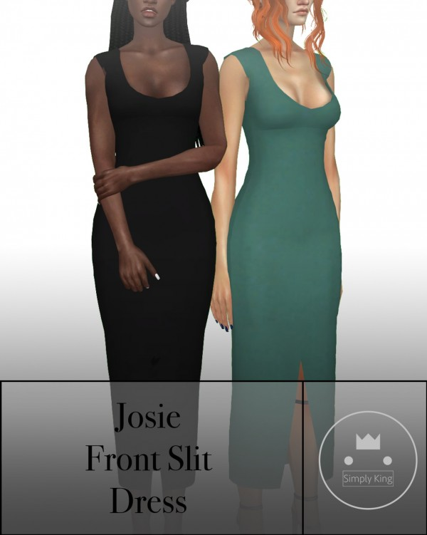Simply King: Josie's Front Slit Dress