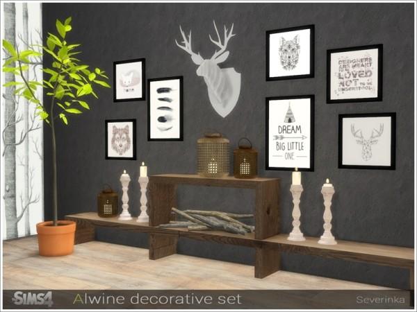 The Sims Resource: Alwine decorative set by Severinka