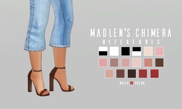 Simsworkshop Madlen S Chimera Shoe Retextured By Catsblob