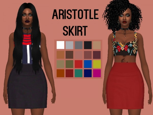 The Sims Resource: Aristotle Skirt by Rebellesims