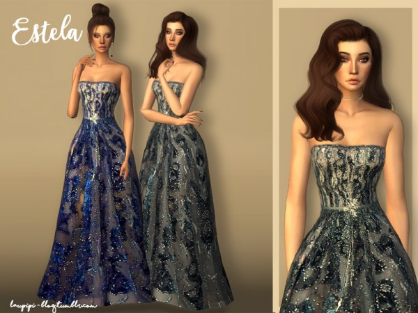 The Sims Resource: Estela dress by Laupipi