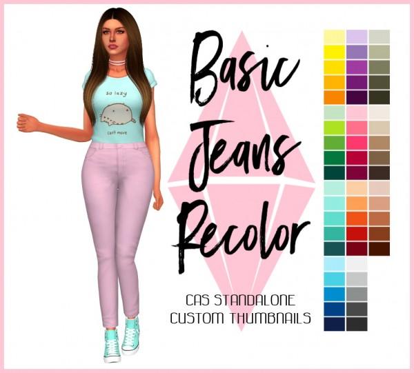 Simsworkshop: Basic Jeans Recolored by Sympxls