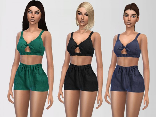 The Sims Resource Cotton Sleepwear By Puresim Sims 4