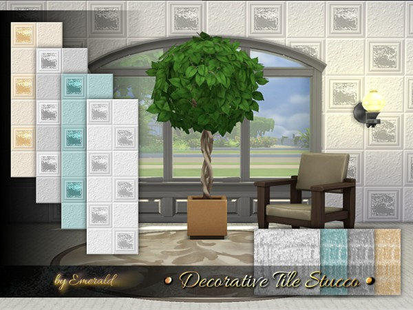 The Sims Resource: Decorative Tile Stucco by emerald