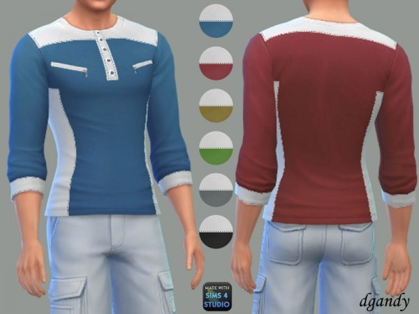 The Sims Resource Long Sleeve T Shirt By Dgandy Sims 4