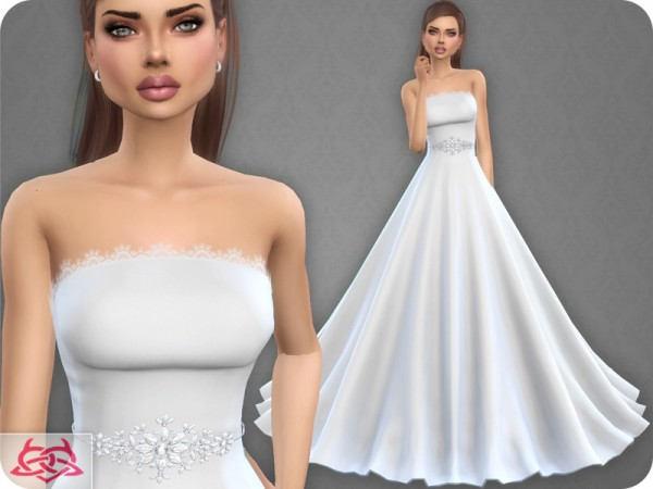 The Sims Resource Wedding Dress 9 By Colores Urbanos Sims 4