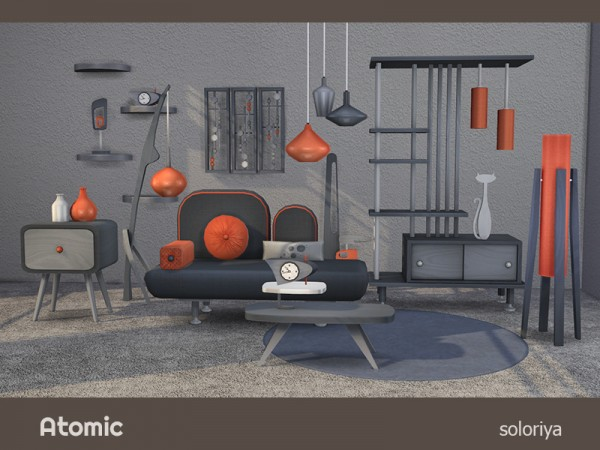 The Sims Resource: Atomic livingroom by  soloriya