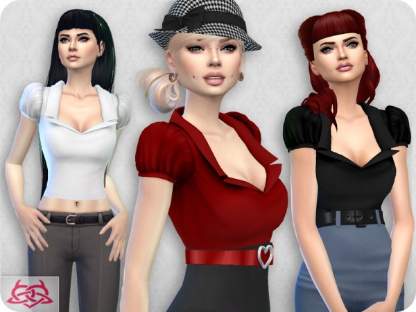 The Sims Resource: Matilde blouse by Colores Urbanos