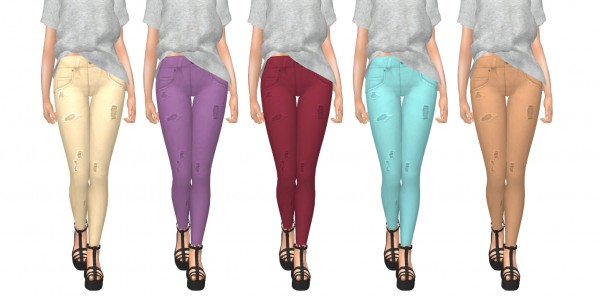Kenzar Sims: Cinemasims Distressed Jeans Recolor