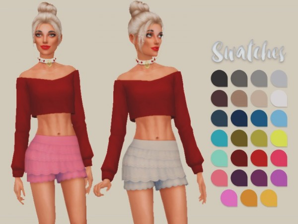 The Sims Resource: Frilly Skirt by zourrysims