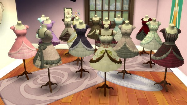 Simsworkshop: Pocci Lolita Dress on Mannequin by BigUglyHag