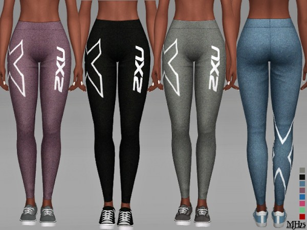 The Sims Resource: 2XU Leggings by Margeh 75
