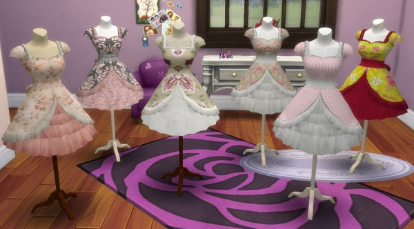 Simsworkshop Pocci Lolita Dress On Mannequin By